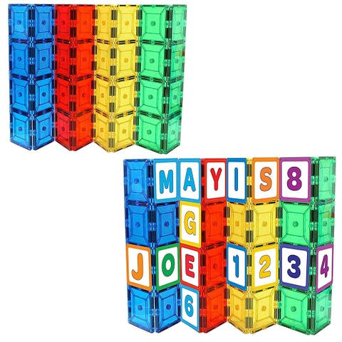Shapemags StileMags, Includes 36 Tiles- All ABCs and Numbers
