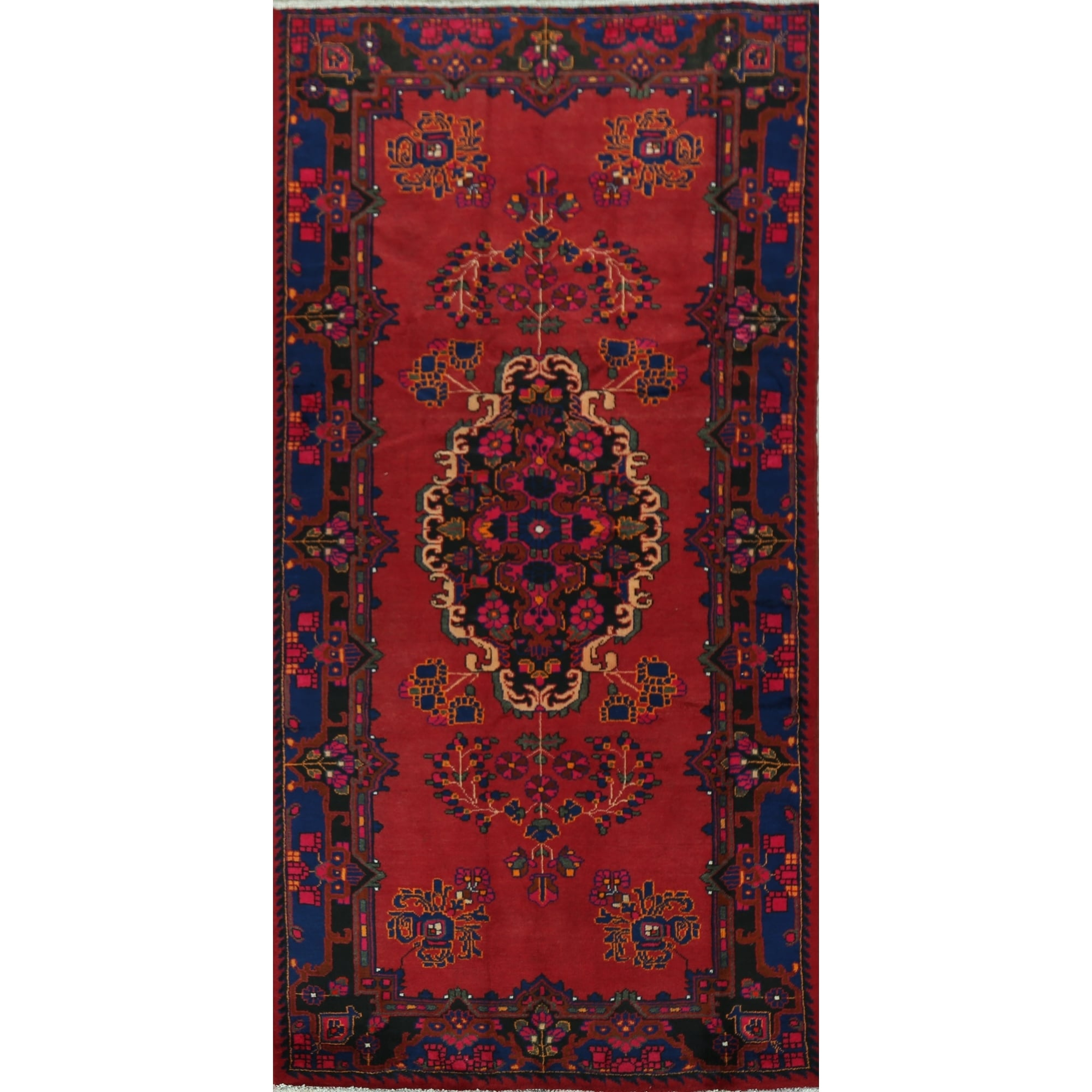 Geometric Red Lilian Persian Area Rug Hand Knotted Office Carpet 4 10 X 9 11 On Sale Overstock 31058253