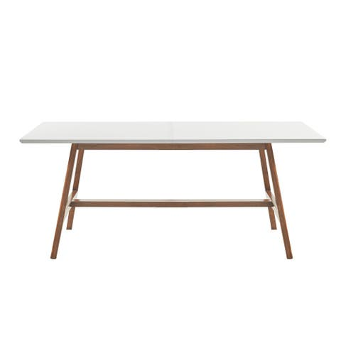 Madison Park Avalon White/ Pecan Dining Table