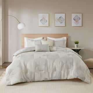 Link to Urban Habitat Rowan 5 Piece Cotton Blend Matelasse Jacquard Comforter Set Similar Items in Comforter Sets