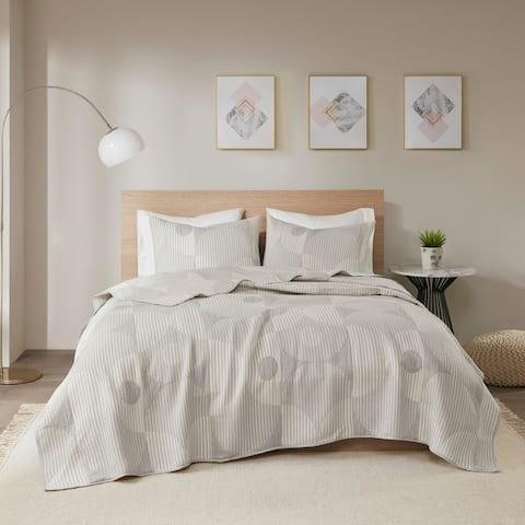 Urban Habitat Rowan Reversible Cotton Blend Matelasse Jacquard Coverlet Set
