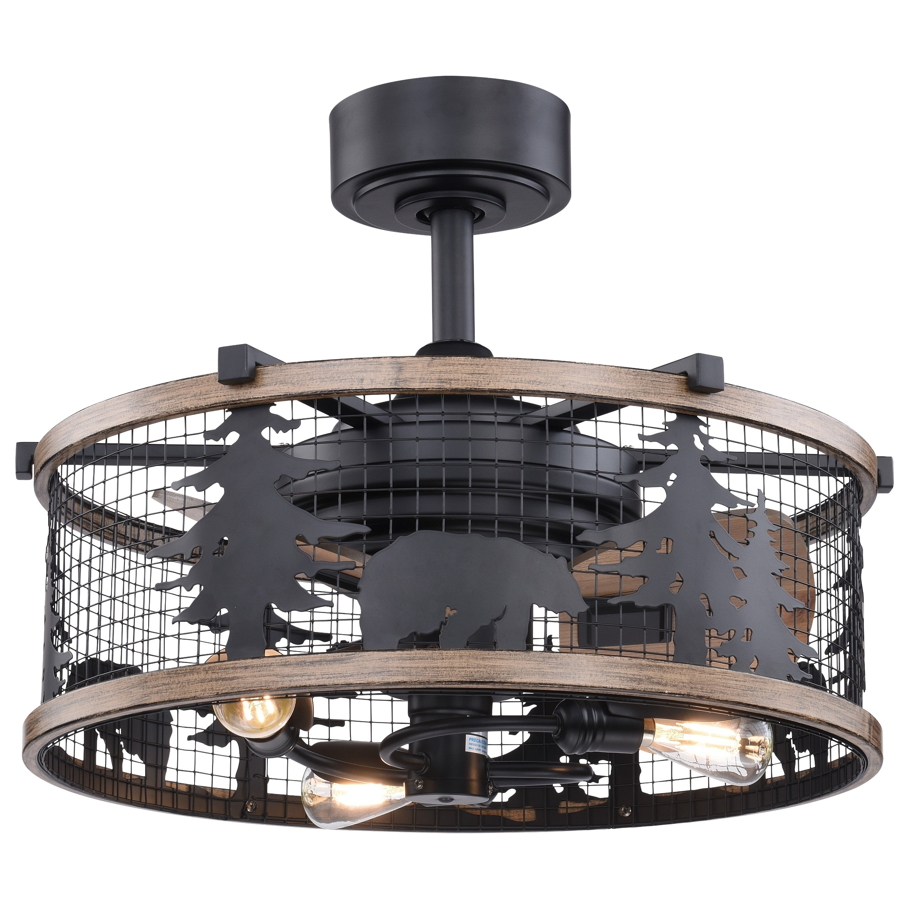 Shop Black Friday Deals On Kodiak Bear Bronze And Teak Rustic Ceiling Fan With Remote 21 In W X 18 In H X 21 In D Overstock 31059451