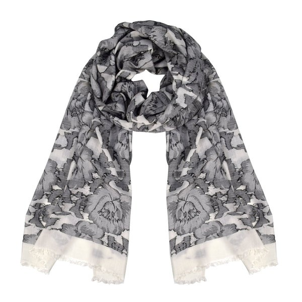 Peach Couture Poppy Print Paisley Pattern Pashmina Wrap Shawl Scarf. Opens flyout.