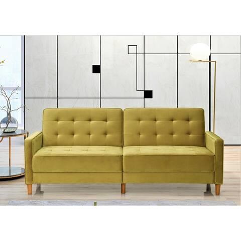Jonathan Tufted Velvet Sofa Bed Sleeper