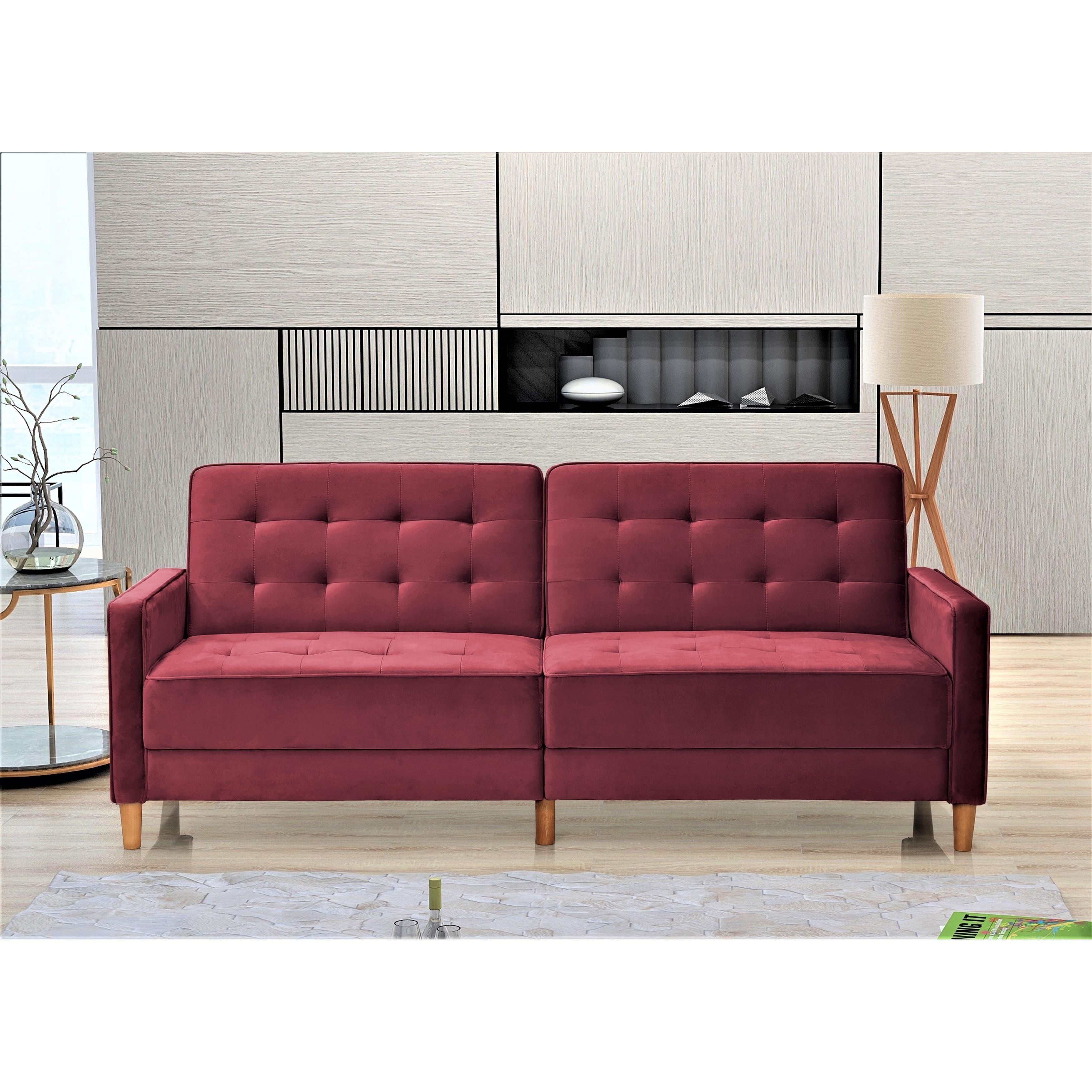 - Shop Jonathan Tufted Velvet Sofa Bed Sleeper - On Sale - Overstock