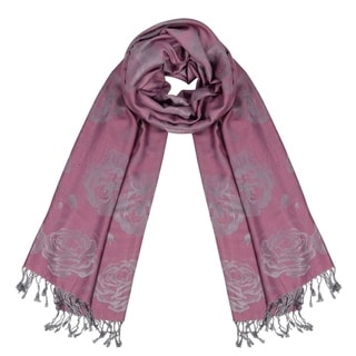 Link to Peach Couture Elegant Floral Pattern Pashmina Wrap Shawl Scarf Similar Items in Scarves & Wraps
