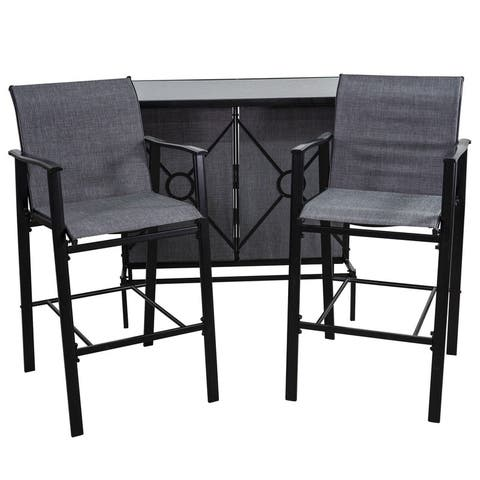 Patio Premier 3pc Bar Set - Grey