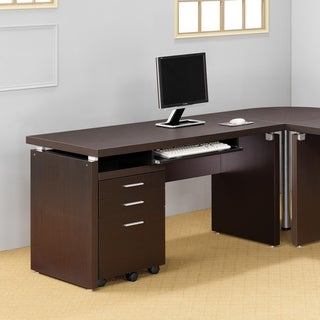 Link to Copper Grove Potters Cappuccino Computer Desk with Keyboard Drawer Similar Items in Computer Desks