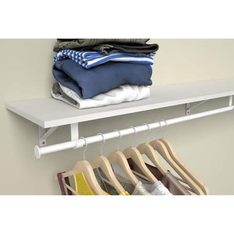 ClosetMaid 4 to 6 Foot Adjustable Closet Rod & Hardware Set