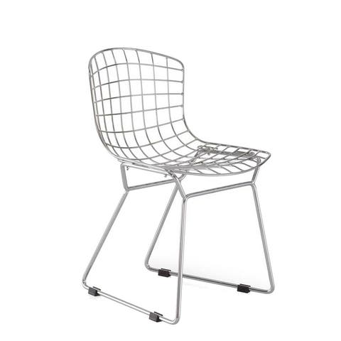 Powder coated solid steel construction chair - Chrome