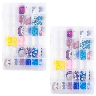 Link to 2x Plastic Organizer Box w/ 36 Compartments Craft Storage for Beads Sewing Tools Similar Items in Storage & Organization