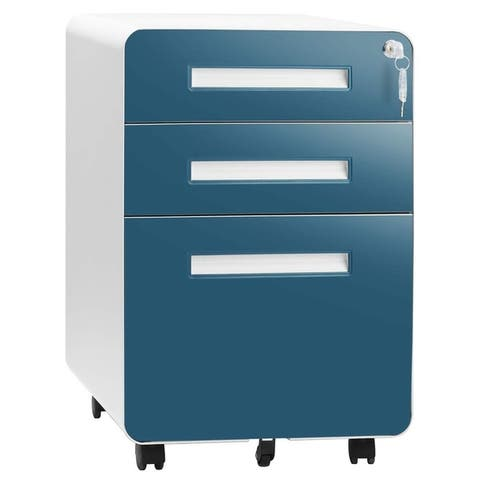 Superday 3-Drawer Metal Vertical File Cabinet , White