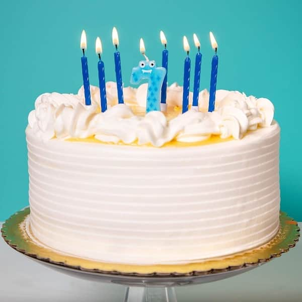 Shop 154x Blue Short Cake Candles W Holder Birthday Cake Candle Number 0 9 Topper Overstock 31065979