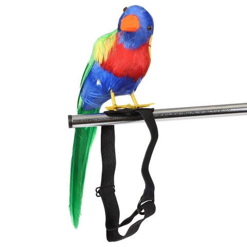 2 Pack Parrot Prop for Shoulder Pirate Costume Accessory for Party, 13 inch