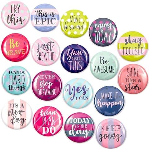 18 Pack Inspirational Quote Decorative Magnets for Fridge Refrigerator Locker