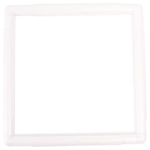 """Rectangle Plastic Snap Clip Quilting Frame 11.4"""" x 11.25"""" for Crafts Embroidery Photos Prints - 11.4 x 11.25 inches"""