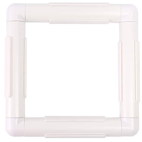"""Rectangle Plastic Snap Clip Quilting Frame 17"""" x 17"""" for Crafts Embroidery - 17"""" x 17"""""""