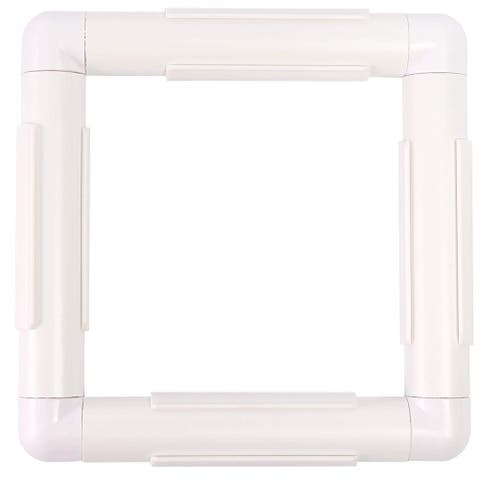 """Rectangle Plastic Snap Clip Quilting Frame 6.5"""" x 6.25"""" for Crafts Embroidery Photos Prints - 6.5 x 6.25 inches"""