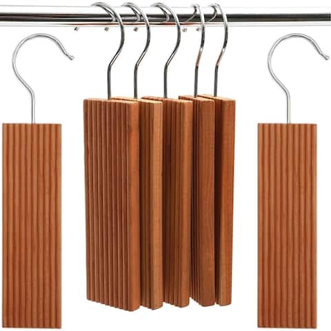 16x 100% Natural Cedar Hang Ups for Closet, Clothes Storage, 1.8 x 0.4 x 6.5 in.