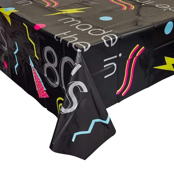 3 Pack 80s 1980s Party Tablecloth Table Cover Made In The