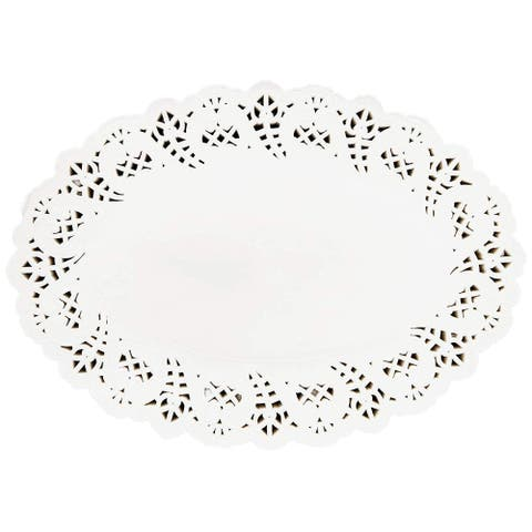 "400pcs White Oval 9"" Paper Doilies Lace for Art & Craft Wedding Table Decor"