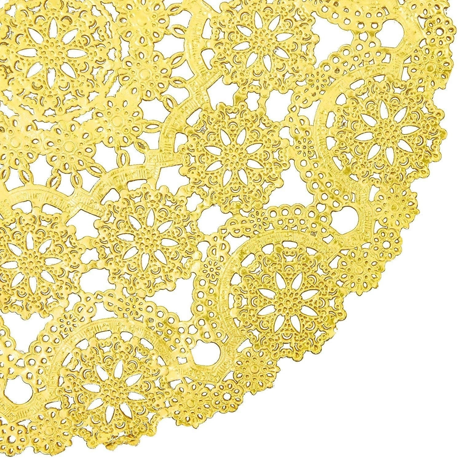 """200pc Round Medallion 12/""""White Paper Doilies Lace for Cake Dessert Display Décor"""
