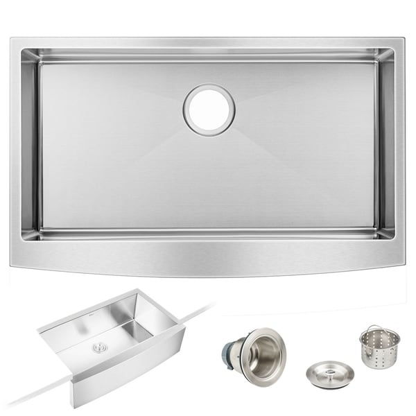 36 in. W x 22 in. L Stainless Steel Kitchen Sink Farmhouse Apron Front Single Bowl. Opens flyout.