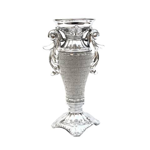 Ambrose Crystal Embellished Ceramic Vase