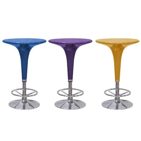Best Master Furniture Adjustable Round Bar Table