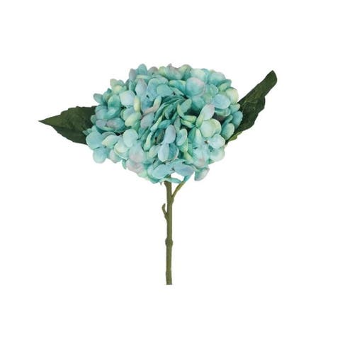 "Hydrangea Pick Blue 12.5"" Set of 6"