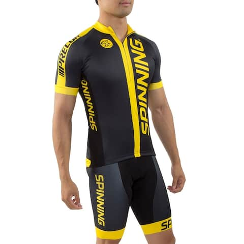 Spinning® Team Men's Cycling Shorts - Yellow