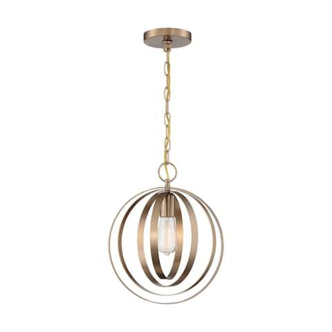Pendleton 1-Light Pendant Fixture - Burnished Brass Finish - Burnished Brass - Burnished Brass