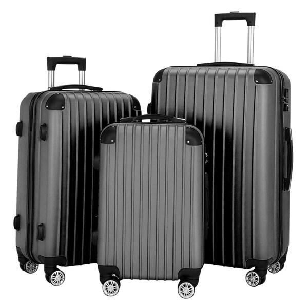 "3 Piece Set Suitcase Spinner Hardshell Lightweight TSA Lock (20"" / 24"" / 28""). Opens flyout."