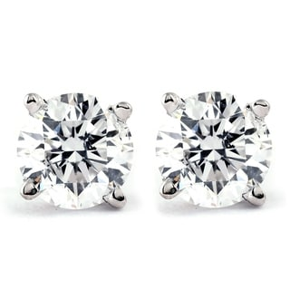 Link to 14k Gold 1ct TDW Genuine White Brilliant Diamond Studs Similar Items in Earrings