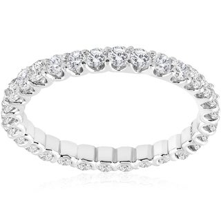 Link to 1 1/2 cttw Diamond Eternity Ring U Prong 14k White Gold Wedding Band Similar Items in Wedding Rings