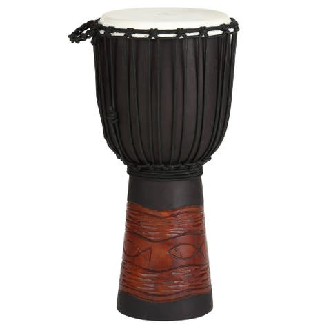 World Rhythm Djembe Drum 24 in. Tall x 12 in. Head