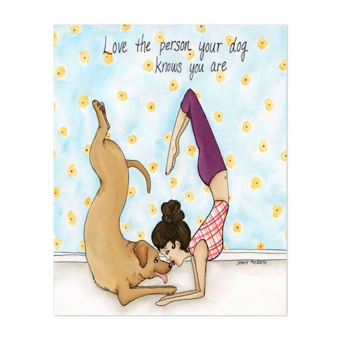 Animals Dog Love Quotes Sayings Yoga Unframed Wall Art Print/Poster