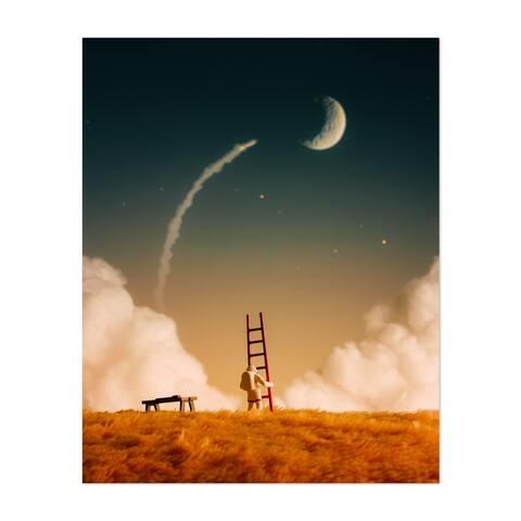 Astronaut Believe Clouds Constellation Unframed Wall Art Print/Poster