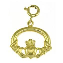 14k Yellow Gold Claddagh Charm|https://ak1.ostkcdn.com/images/products/3108635/3/14k-Yellow-Gold-Claddagh-Charm-P11238930.jpg?impolicy=medium