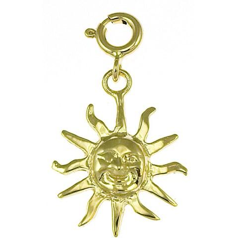 14k Yellow Gold Sun Charm