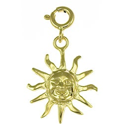 14k Yellow Gold Sun Charm