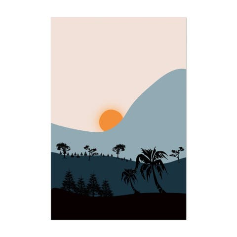 Boho Coconut Tree Eclectic Forest Unframed Wall Art Print/Poster