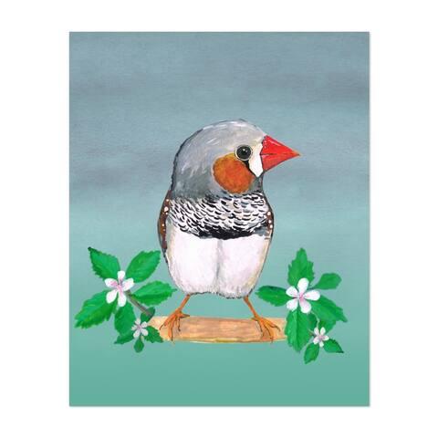 Acrylic Ink Animals Avairy Bird Bloom Unframed Wall Art Print/Poster