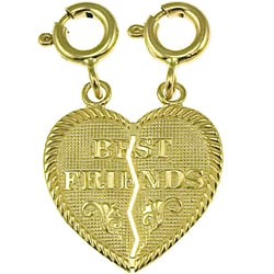 14k Yellow Gold 'Best Friends' Charm