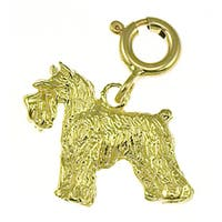 14k Yellow Gold Schnauzer Charm