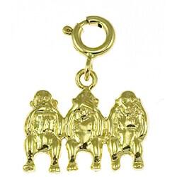 14k Yellow Gold 'Speak No Evil' Monkey Charm