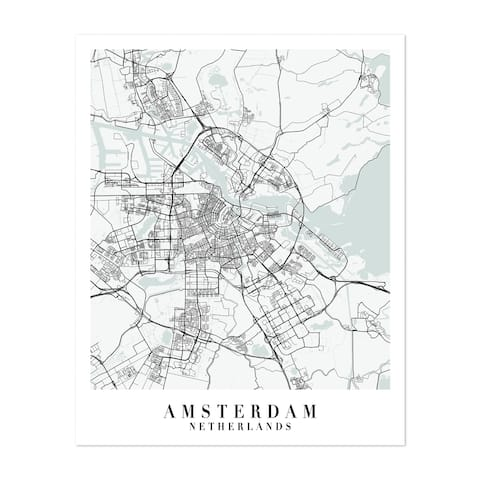 Netherlands Maps Minimal Unframed Wall Art Print/Poster
