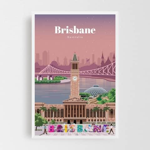 Brisbane Australia Architecture Framed Wall Art Print