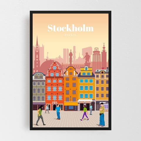 Stockholm Sweden Architecture Cityscape Framed Wall Art Print