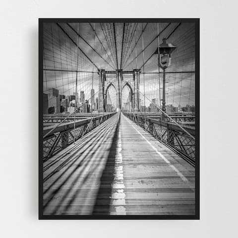 New York Architecture Black and White Framed Wall Art Print